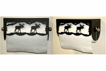 Moose Scenery Paper Towel Holder