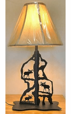 Moose Scenery Style Table Lamp