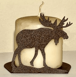 Moose Silhouette Candle Holder