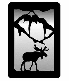Moose Small Accent Mirror Wall Art