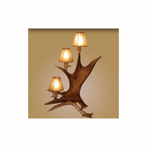 Moose Standing 3 Light Lamp