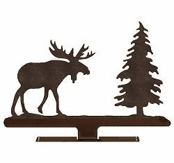 Moose with Tree Mailbox Top