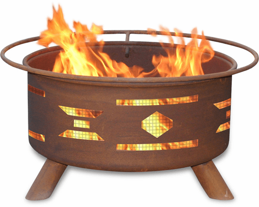 Mosaic Santa Fe Design Fire Pit - Southwestern Fire Ring