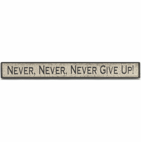 Motivation - Never, Never, Never Give Up