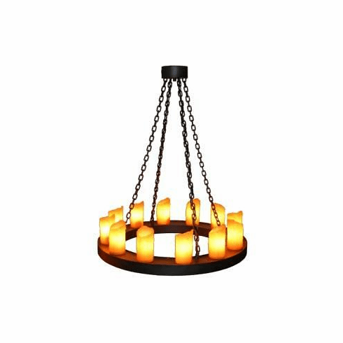 Mountain Modern One Tier Candle Chandelier