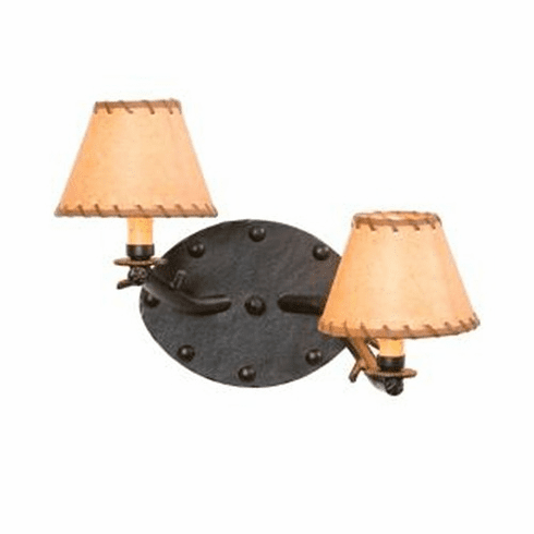 Mountain Modern Rivets Timber Wall Sconce