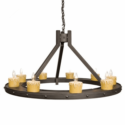Mountain Modern Steel Creek Rivets 9 Lights Candle Chandelier