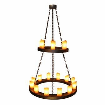 Mountain Modern Two Tier Candle Chandelier