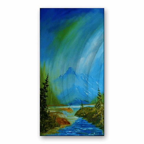 Mountain Stream Metal Artwork
