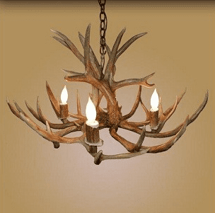 Mule-Deer 4 Light Chandelier