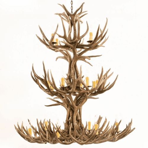 Mule Deer Antler 20 Light Chandelier