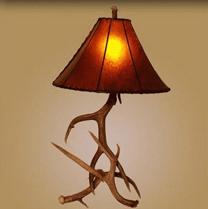 Mule Deer Antler Large Table Lamp