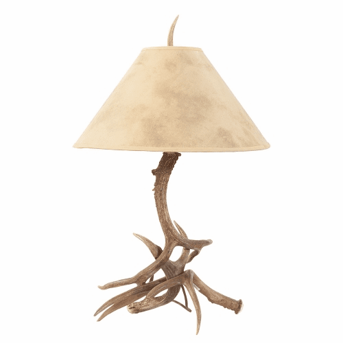 Mule Deer Antler Table Lamp (Paper Shade)