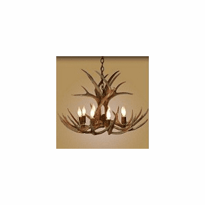 Mule-Deer Large 8 Light Chandelier