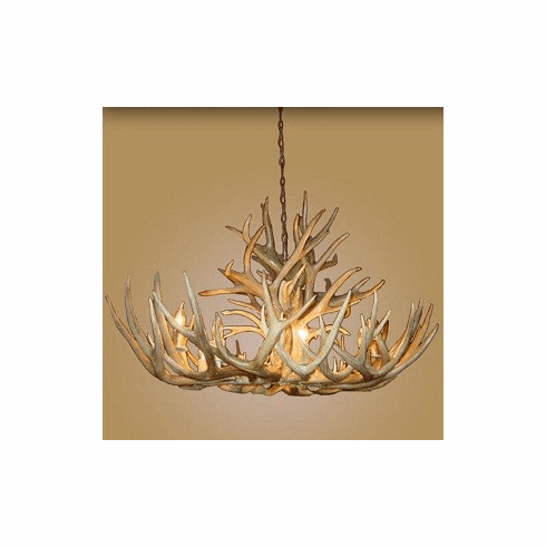 Mule-Deer Oval 8 Light Chandelier