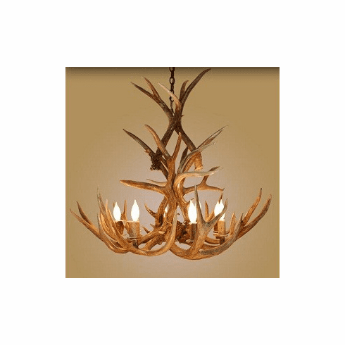 Mule Deer Tall 8 Light Chandelier