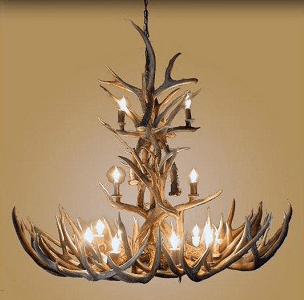 Mule Deer XL 14 Light Chandelier