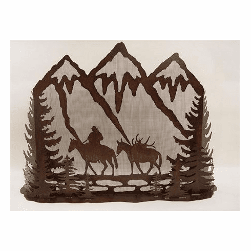 Mule Pack Fireplace Screen