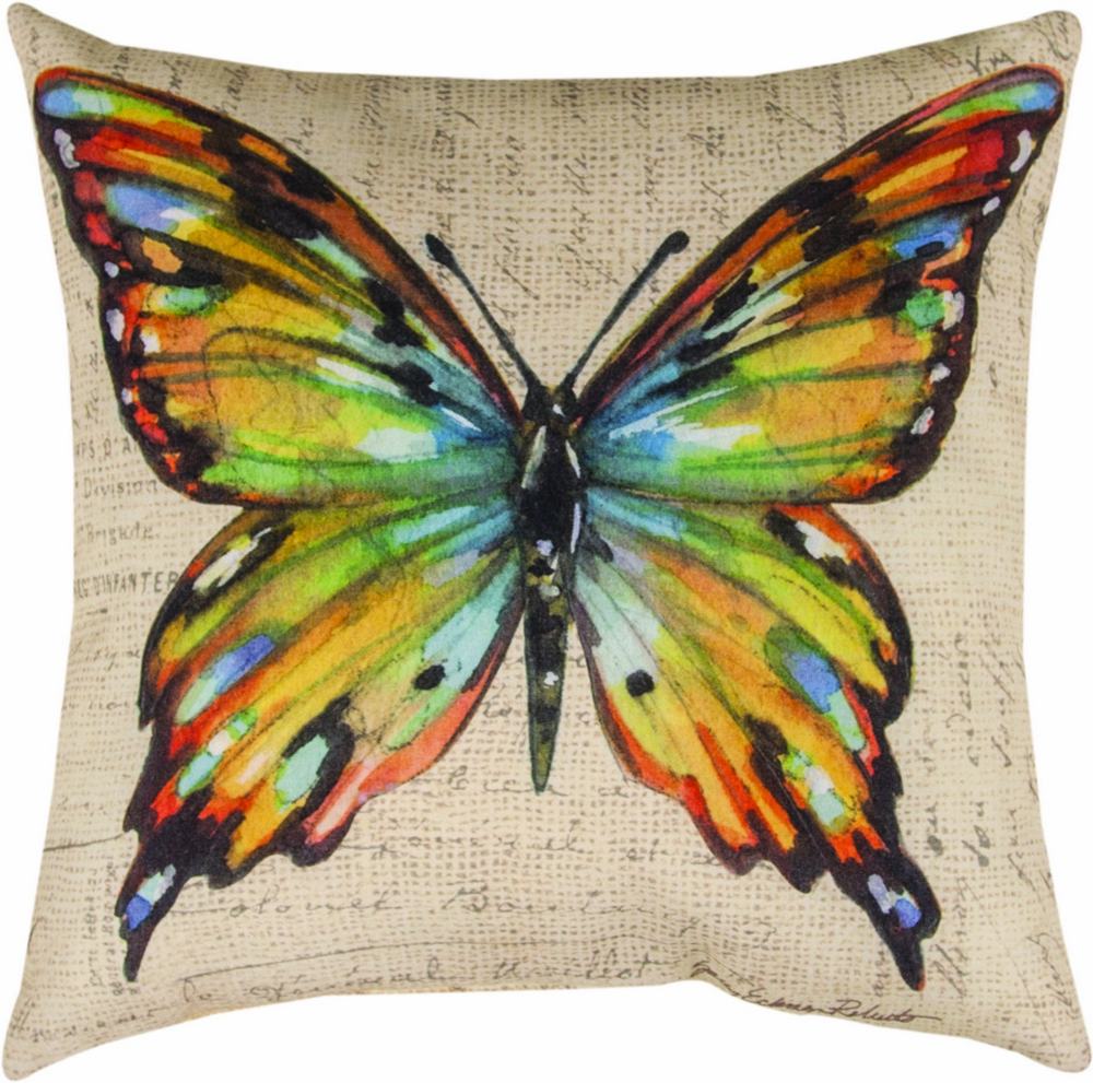 Multi Color Butterfly Wings Climaweave Pillow