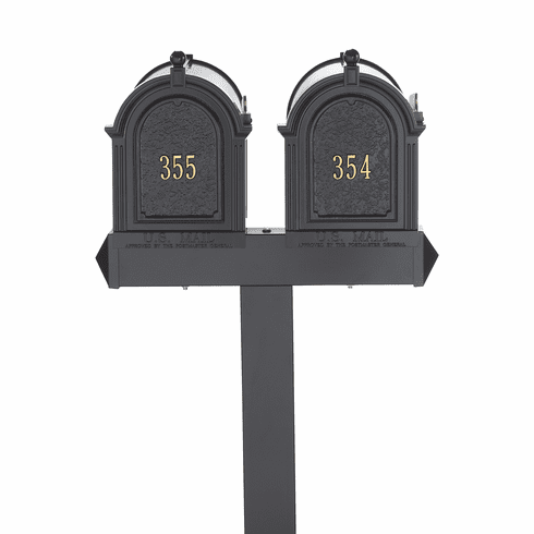 Multi Mailbox Dual Capitol Package in Black