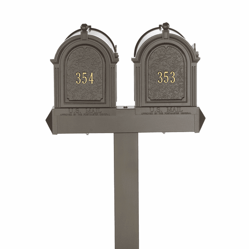 Multi Mailbox Dual Capitol Package in Bronze