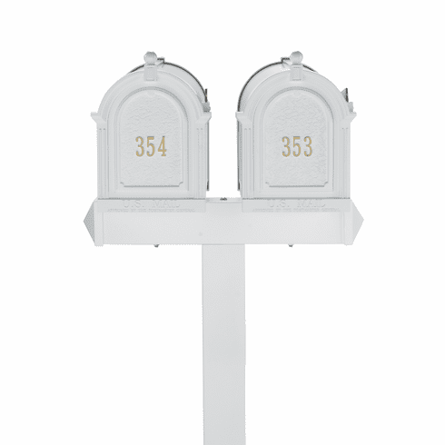 Multi Mailbox Dual Capitol Package in White