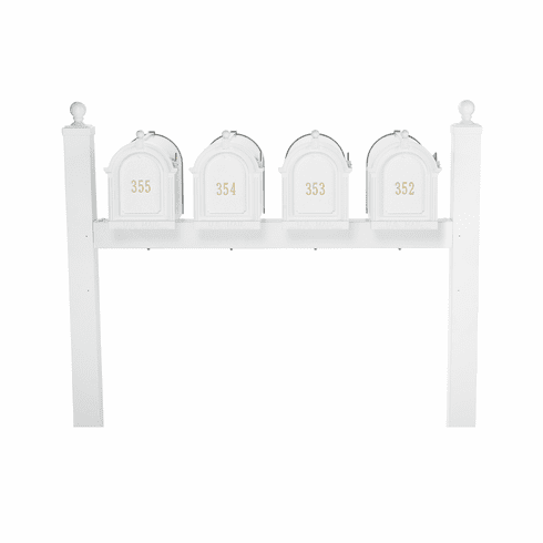 Multi Mailbox Quad Package in White