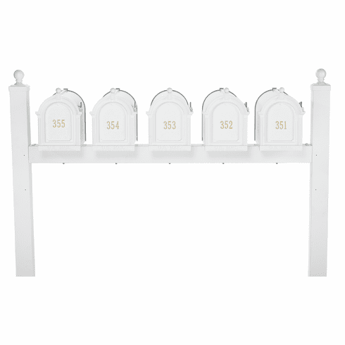 Multi Mailbox Quint Package in White
