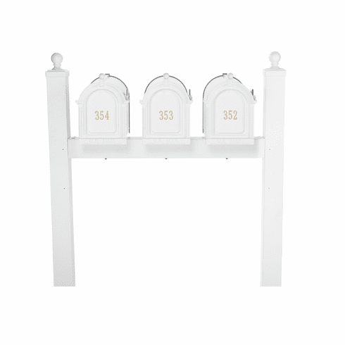Multi Mailbox Triple Package in White