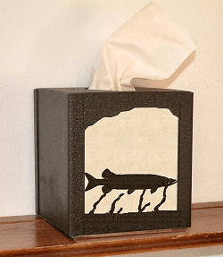 Muskie Facial Tissue Box Cover