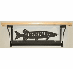 Muskie Rustic Towel Bar with Shelf