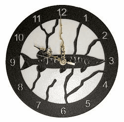 Muskie Smooth Edge Rustic Clock