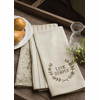 Nature's Script Live Simply set of 3 Tea Towels