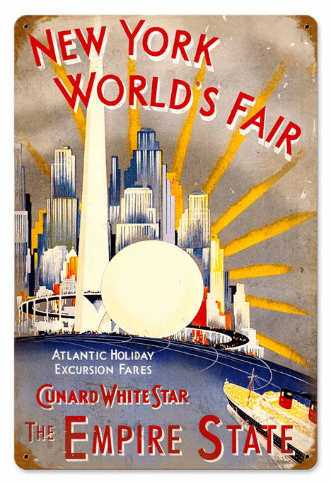 New York World's Fair Repro Poster Sign