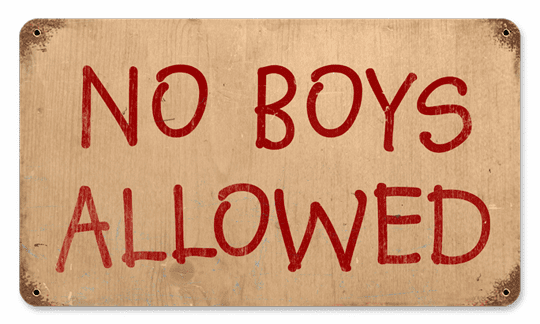 No Boys Allowed - Fun Girls Room Sign
