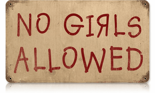 No Girls Allowed - Fun Man Cave Sign
