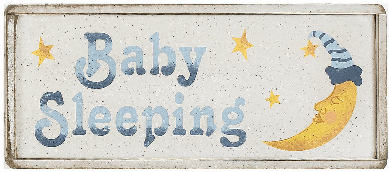 Nursery Decorating - Baby Sleeping