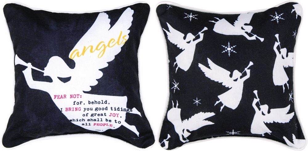 O' Holy Night Angels Reversible Pillow