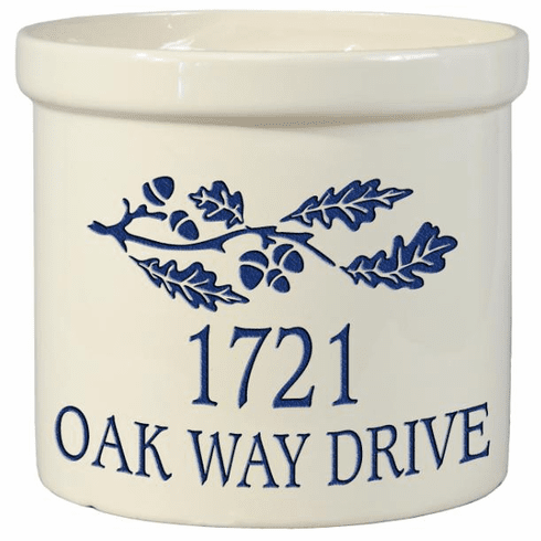 Oak Branch Crock - Address