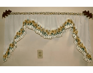 Oak Leaf Curtain Rod Holder Pair