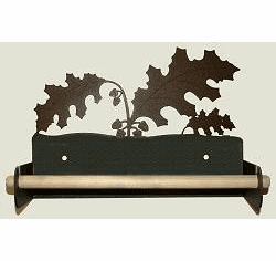 Oak Leaf Paper Towel Holder With Wood Bar