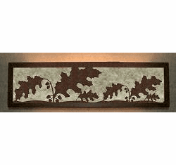 Oak Leaf Valance Style Bath Vanity Light