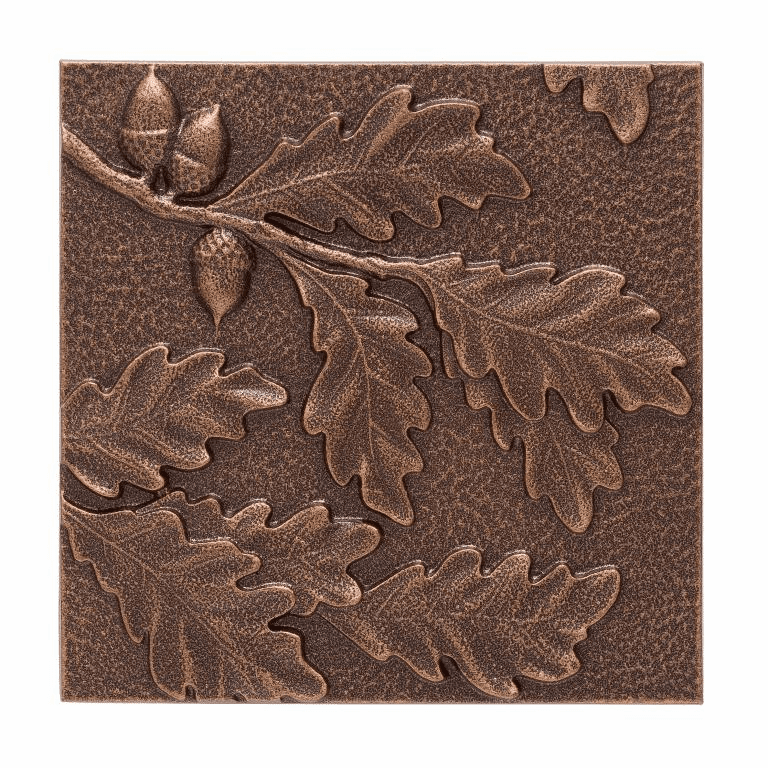 Oak Leaf Wall Decor - Antique Copper