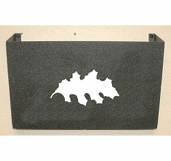 Oak Leaf Wall Mount Magazine Rack