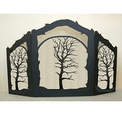 Oak Tree Arched or Straight Fireplace Screen