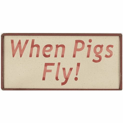 Office Decorating - When Pigs Fly