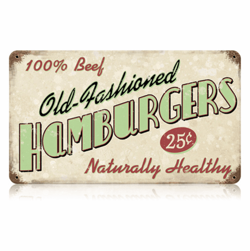 Old Fashioned Hamburgers Restaurant Sign