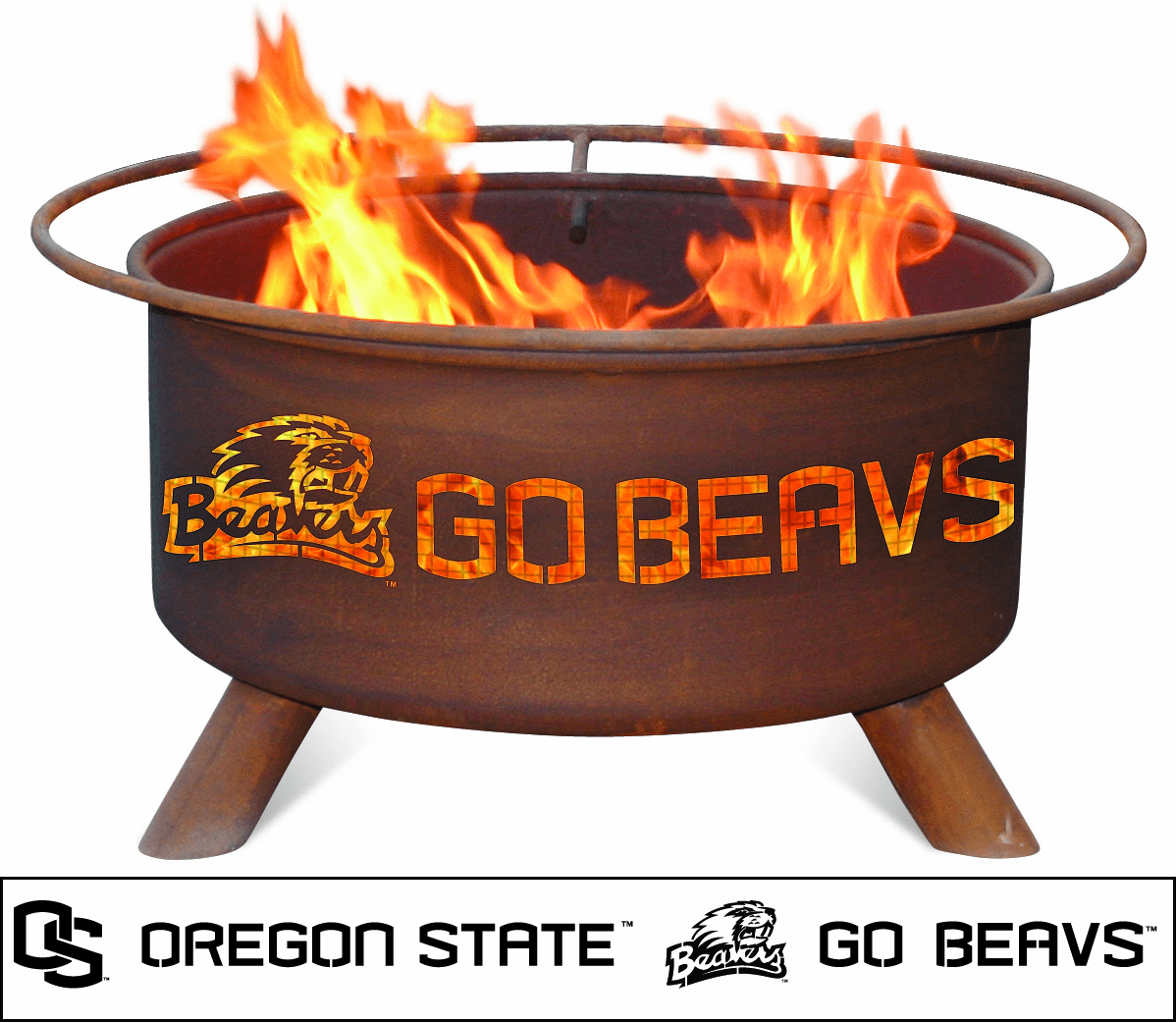 Oregon State University - Beavers Logo Fire Pit