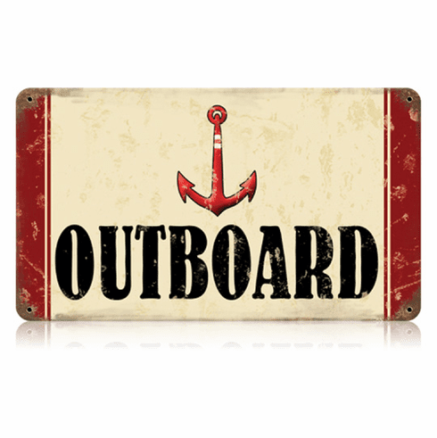 Outboard Boating Sign - Lake Home Sign