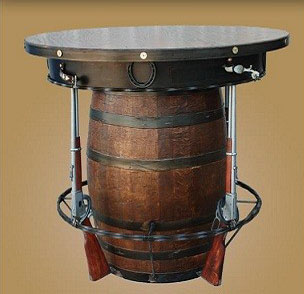 Outlaw Pub Table with 3 Rifles